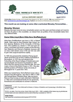 Moseley History News April 2013
