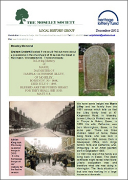Moseley History News February 2013