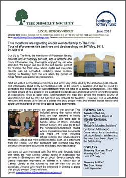 Moseley History News June 2013