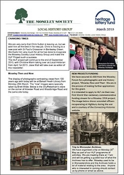 Moseley History News March 2013
