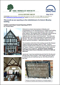 Moseley History News May 2013