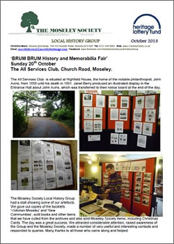 Moseley History News October 2013