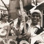 Children on float at 1980s festival