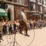 penny farthing at 1983 festival