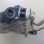 Gas Mask in cloth carry bag