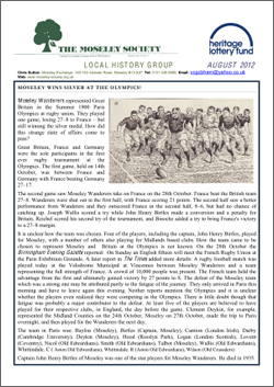 Moseley History News August 2013