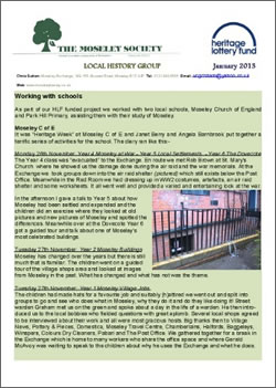Moseley History News January 2013