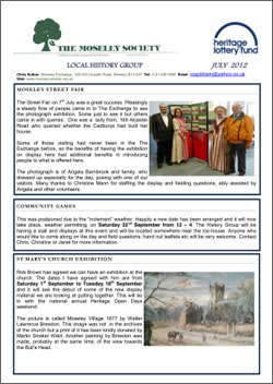 Moseley History News July 2013
