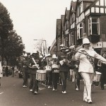 Drum band at the festival in 1980s
