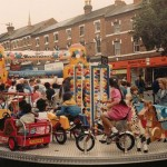 Merry go round and bouncey castle 1987